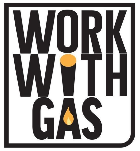 Gallery large work with gas logo
