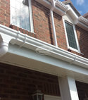 Square thumb replacement upvc ogee guttering white upvc fascia soffit
