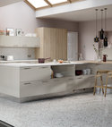 Square thumb chic limestone and linear bardolino oak